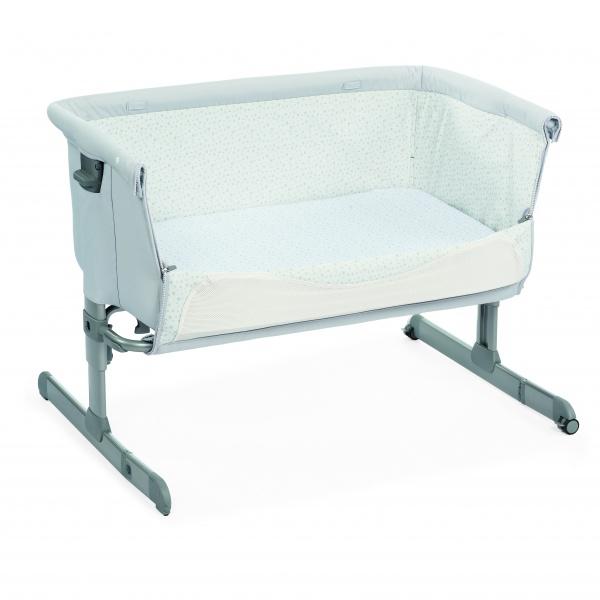 bedside seng Chicco Next2Me seng/bedside crib, light grey   Babybanden bedside seng