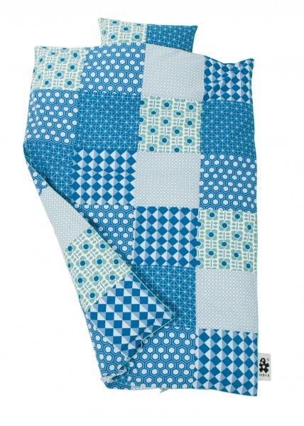 Sebra sengesett 80x100 Blue Patch