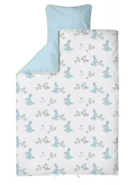 BabyDan Sengesett 80x100 BunnyHop Blue