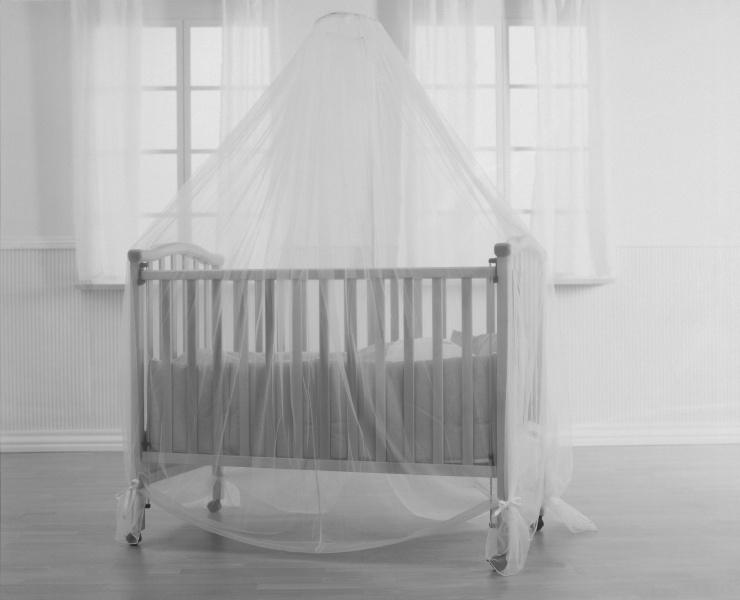BabyDan, insektnett til seng, hvit