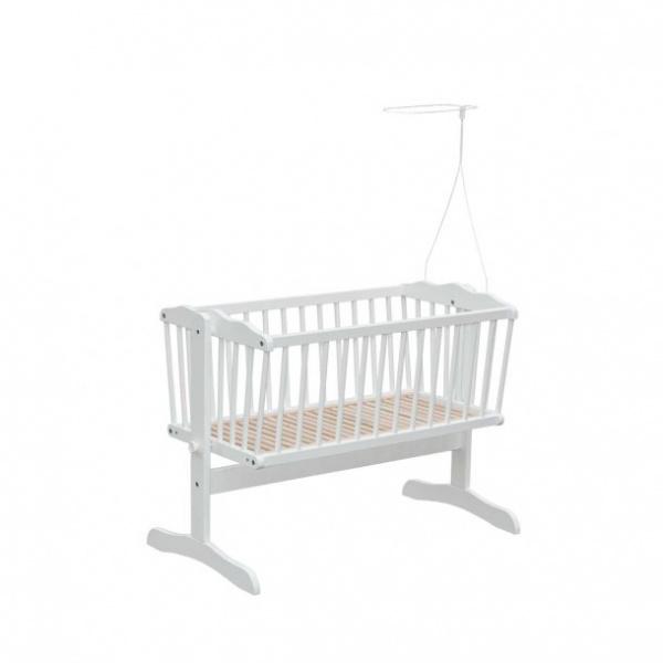 BabyDan, Sving vugge inkl. himmelpinne, hvit