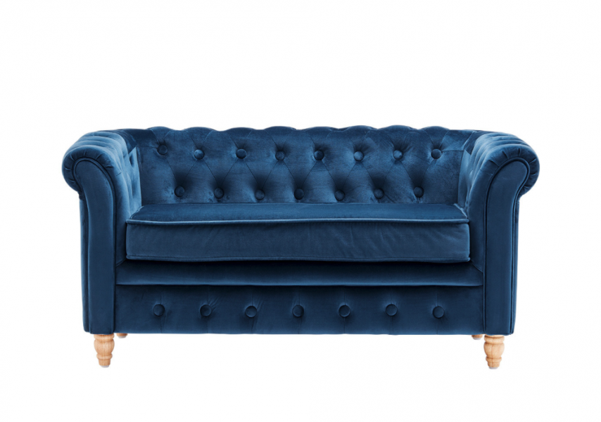 Kids Concept Kids Concept, Chesterfield sofa, velvet blue